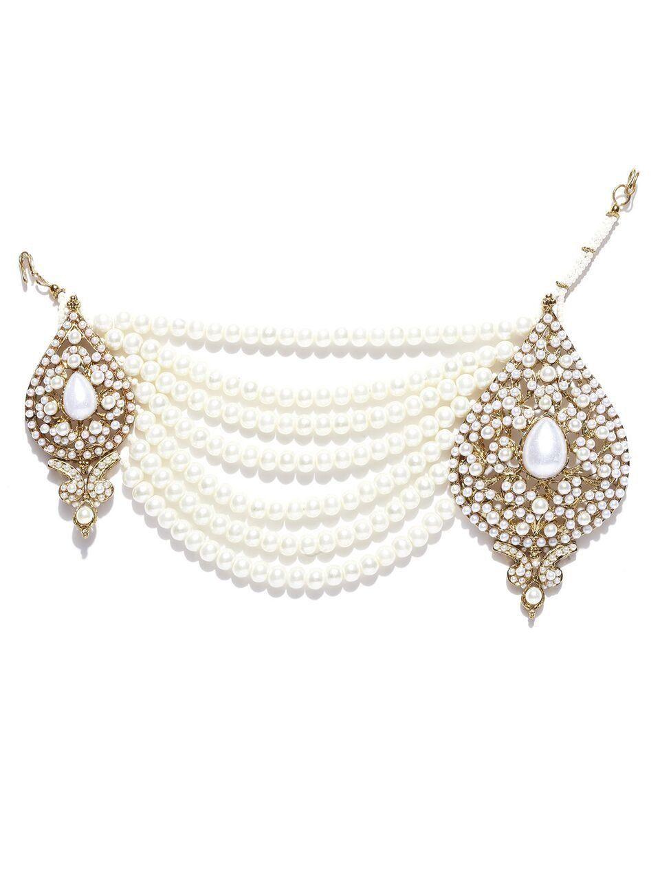 Zaveri pearls jadau side passa zaveri pearls jewellery pinterest