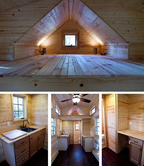 Tiny Living by Dan Louche family room sleeping loft bathroom