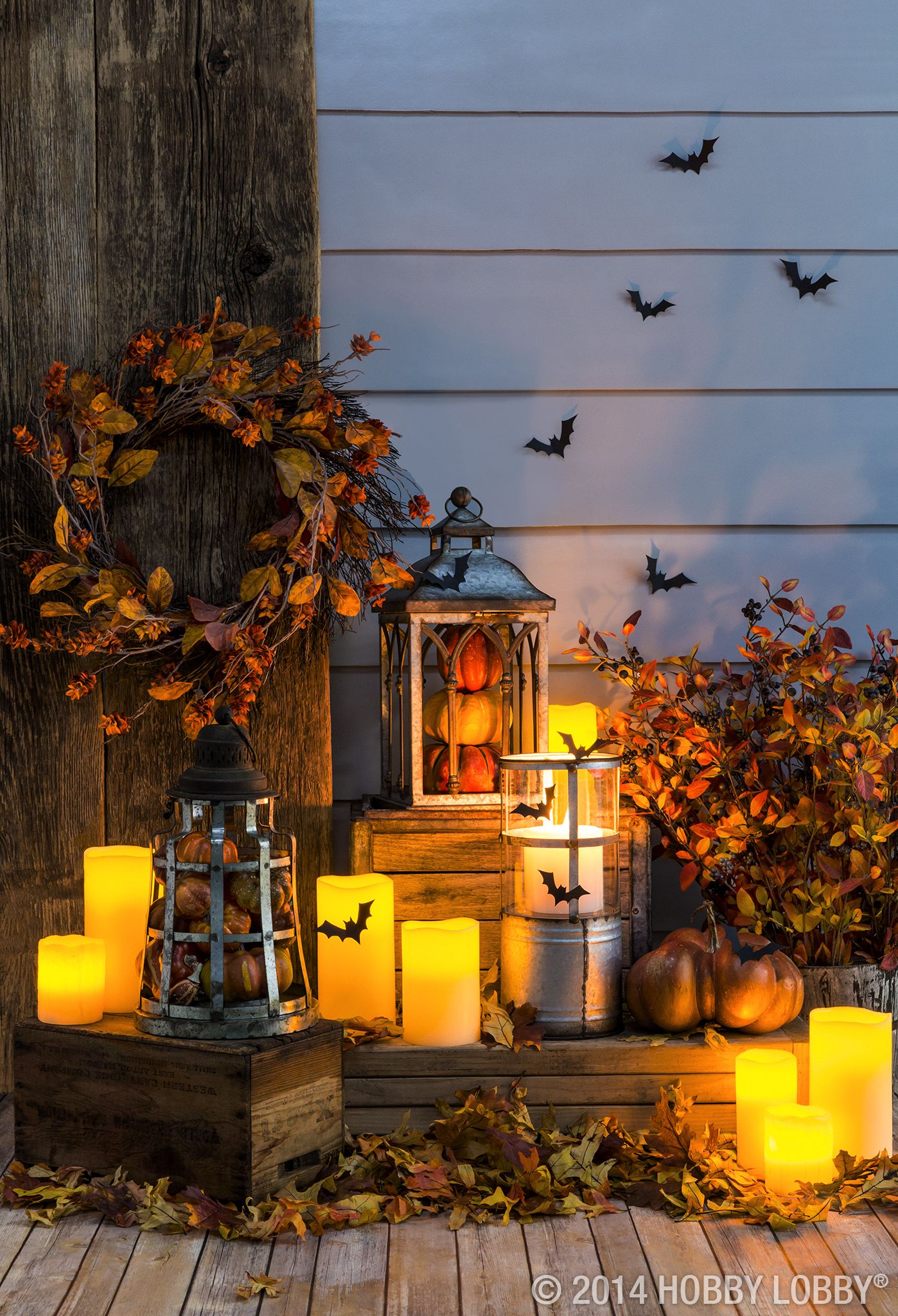 light up your front porch with fall festive lanterns