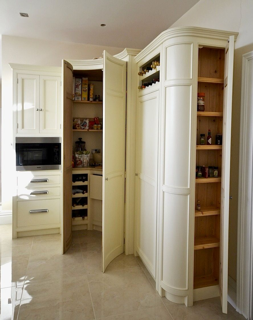 bespoke painted kitchen corner larder in a cream from. Black Bedroom Furniture Sets. Home Design Ideas