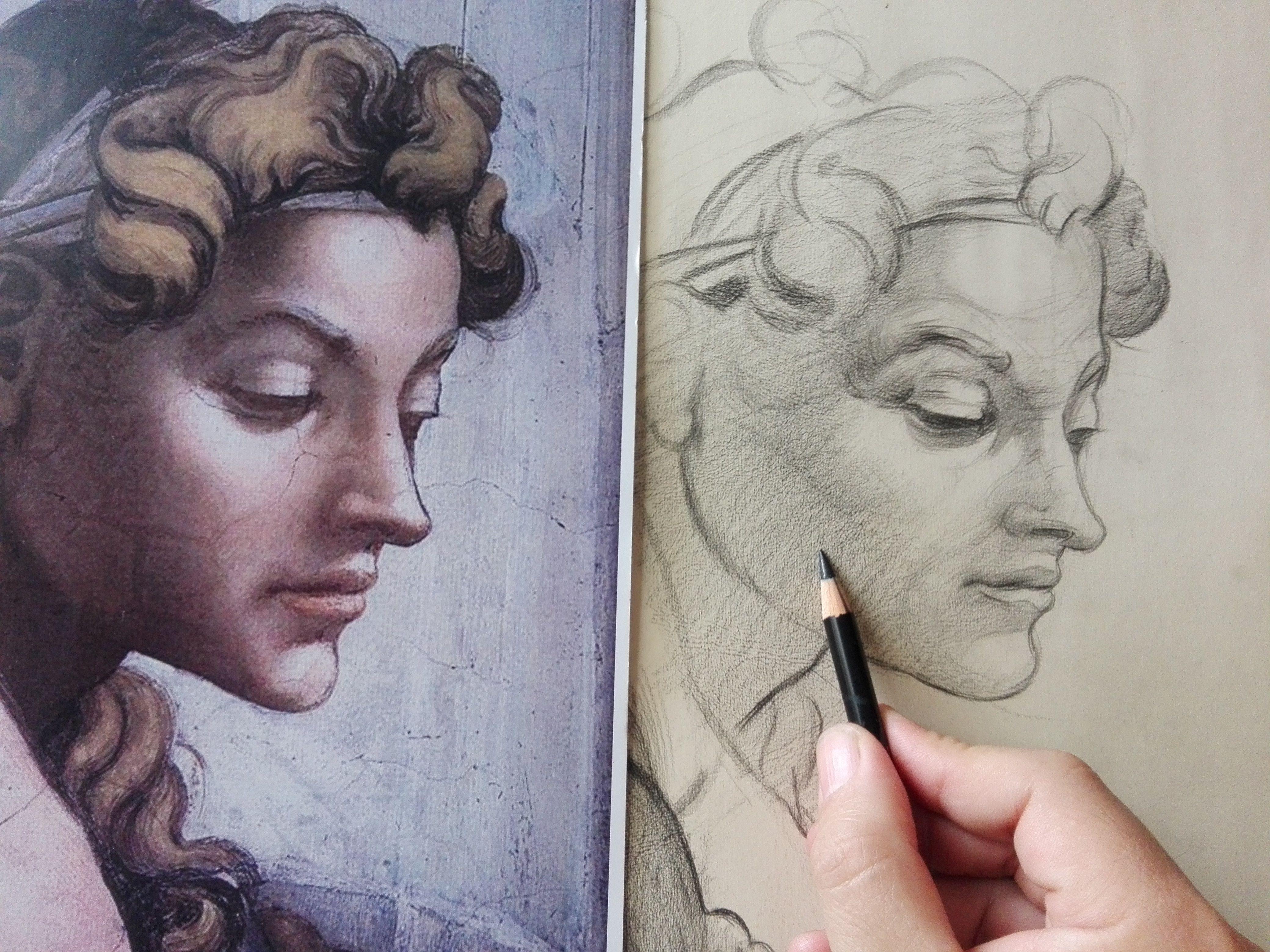 Miguel Angel Dibujo Clasico Y La Linea Serpentinata Arte Renacentista Pintura Angeles Dibujos Arte Renacentista