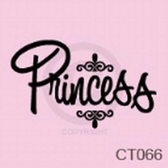 Princess Vinyl Wall Decal by TickledPinkImpress on Etsy, $20.00