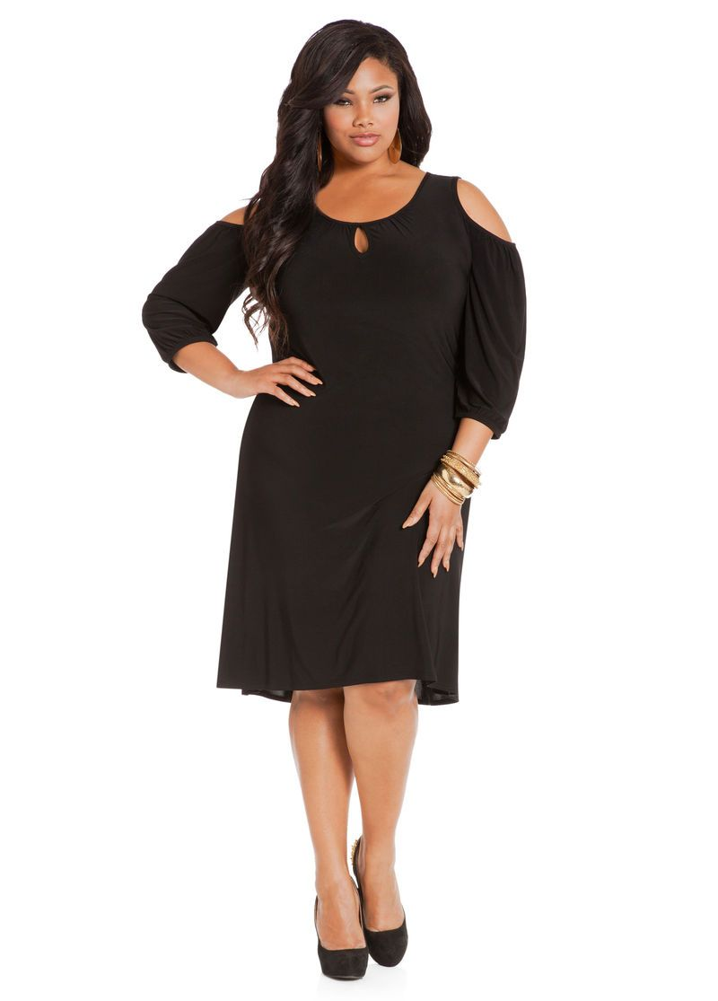 776d6250bd446 A little black dress is a must-have for every closet. We've given this sleek  and sexy wardrobe essential a twist with a cold shoulder cut an.