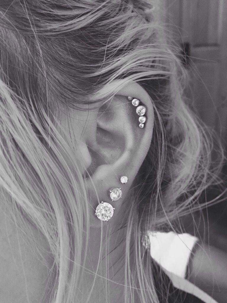 cluster cartilage earring my style piercings oreja