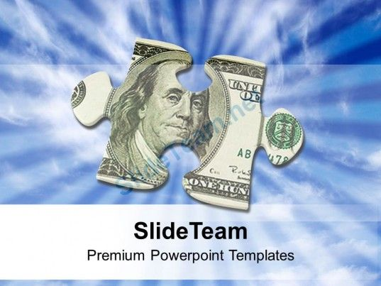 Money Puzzle Piece Finance Dollar Hundred Powerpoint Templates PPT ...