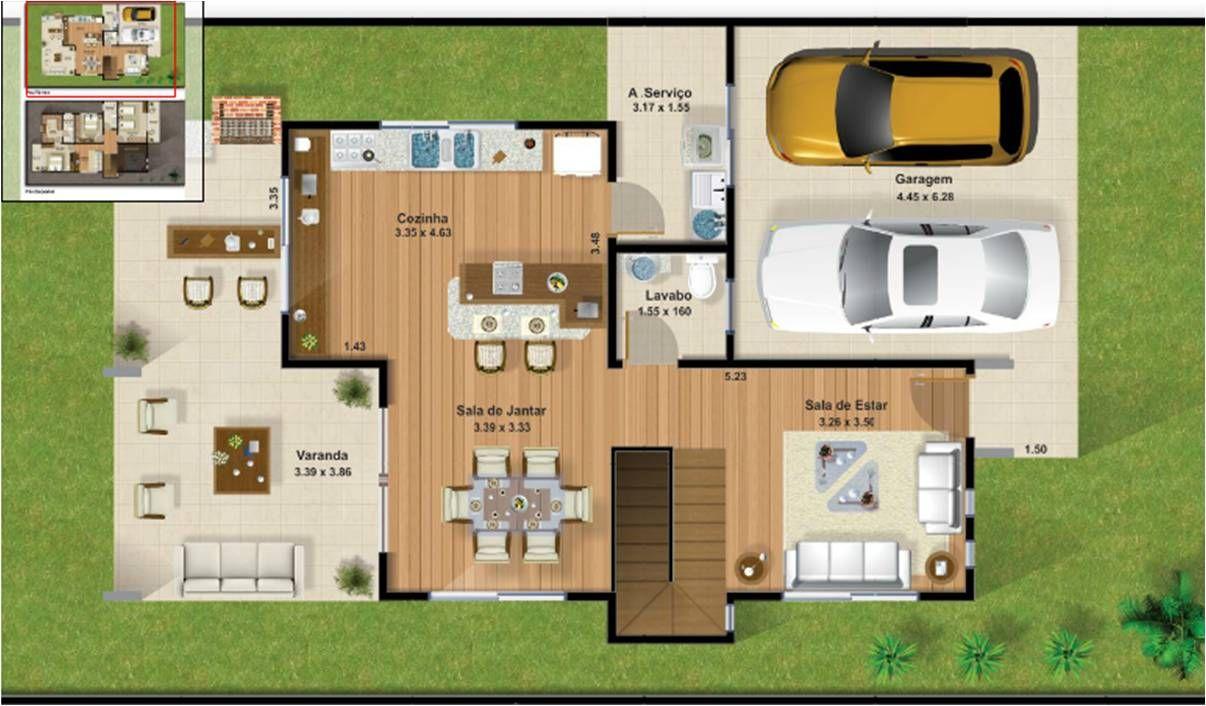 Planta terreno 10x25 parte baixa planos de interiores - Terreno con casa ...