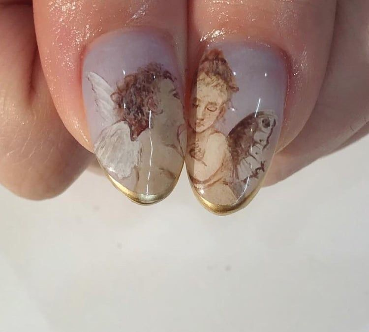 Indie Aesthetic Art Grunge Vintage Nails Alternative Retro Tumblr Angel Https Weheartit Com Entry 327831311 Nails Inspiration Cute Nails Manicure