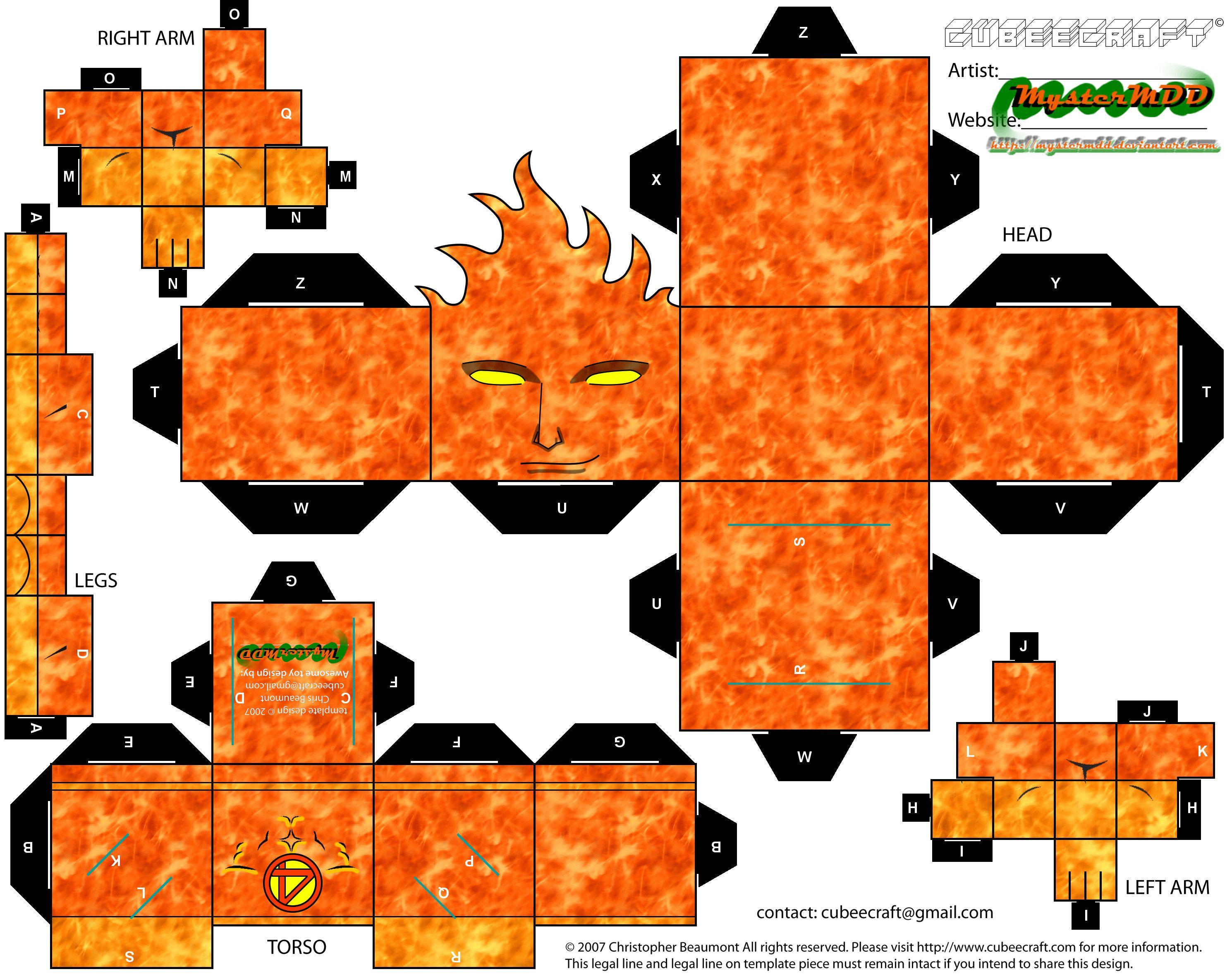 Human Torch Cubeecraft