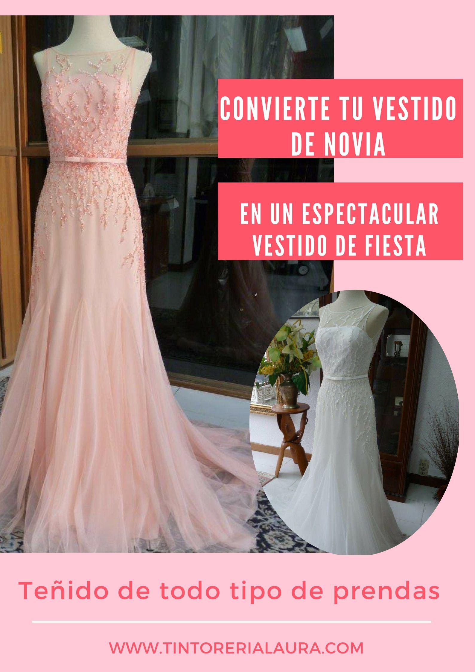 teñido vestido de novia#transformar vestido de novia# cambiar el ...