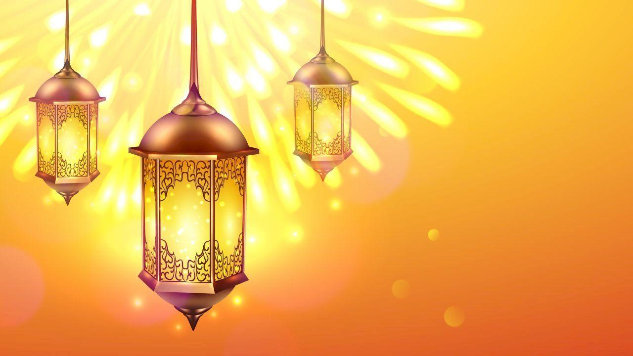 عبارات عن قدوم شهر رمضان Paper Lamp Ceiling Lights Novelty Lamp