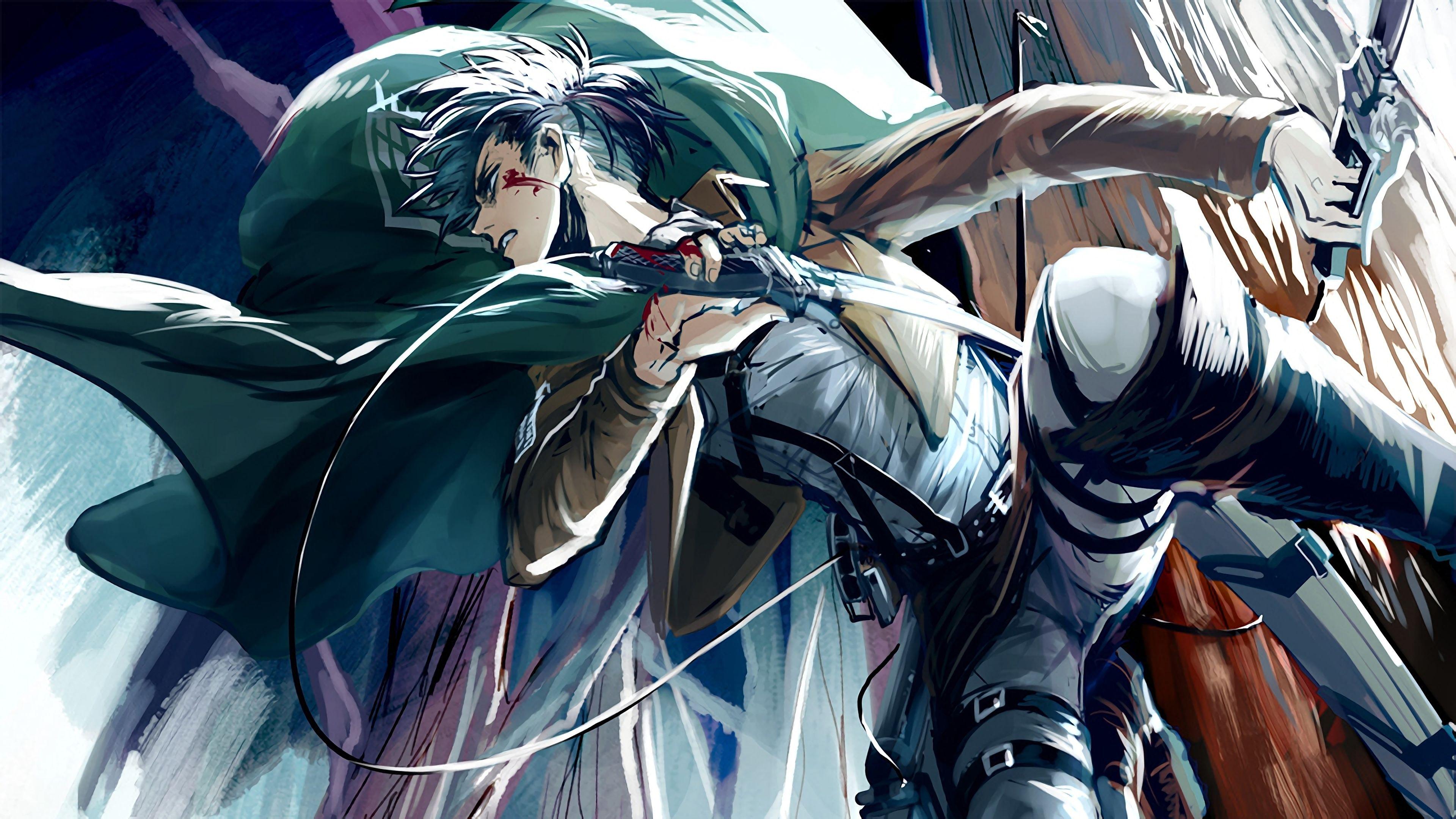 Levi Ackerman Attack On Titan Shingeki No Kyojin Anime 3840x2160 Wallpaper Attack On Titan Levi Attack On Titan Titans