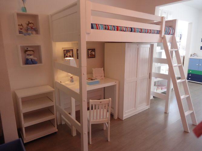 Cama alta pesquisa google quarto rafael sibling room - Cama en alto ...