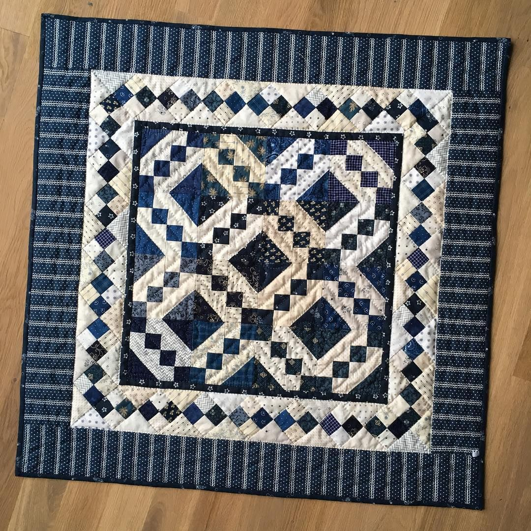 Heike Schneider On Instagram This Is The Last Finish For This Year Uniform Blues 28 Square Pattern By Carol Hopkins Caro Instagram Photo And Video Blues