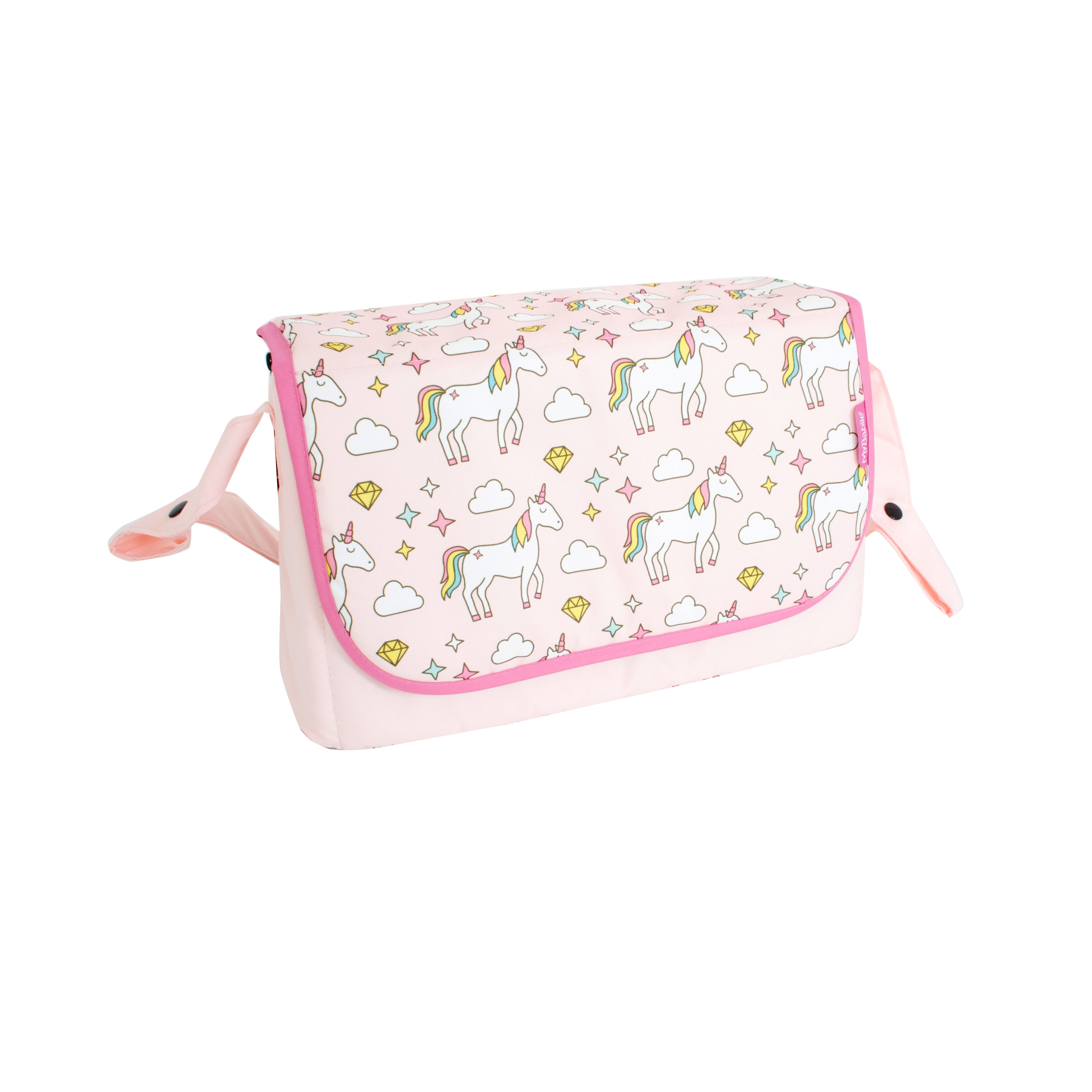 0ab36c06c2732 This My Babiie unicorns baby changing bag is a simple and practical  addition to your My Babiie pushchair. Made in a fun pink unicorns print,  this change bag ...
