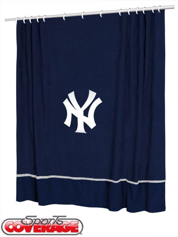 New York Yankees Shower Curtain Baseball Shower Curtains Yankee