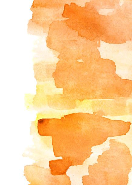 Orange Watercolor Background Orange Wallpaper Orange Painting