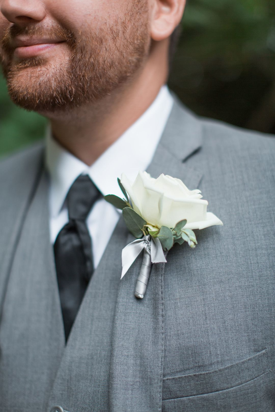 The Smarter Way to Wed | Wedding boutonniere, White rose boutonniere ...