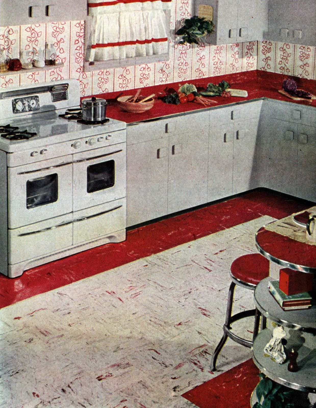 100+ fabulous '50s floors of linoleum & vinyl   Kitchen ...