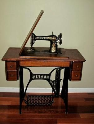 Strange An Old Fashion Sewing Machine By Singer Brand Sewing Home Interior And Landscaping Spoatsignezvosmurscom