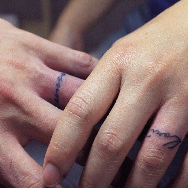 ab0bdd408 I would % get a wedding ring tattoo. Especially with your name subtly  scribed around my finger