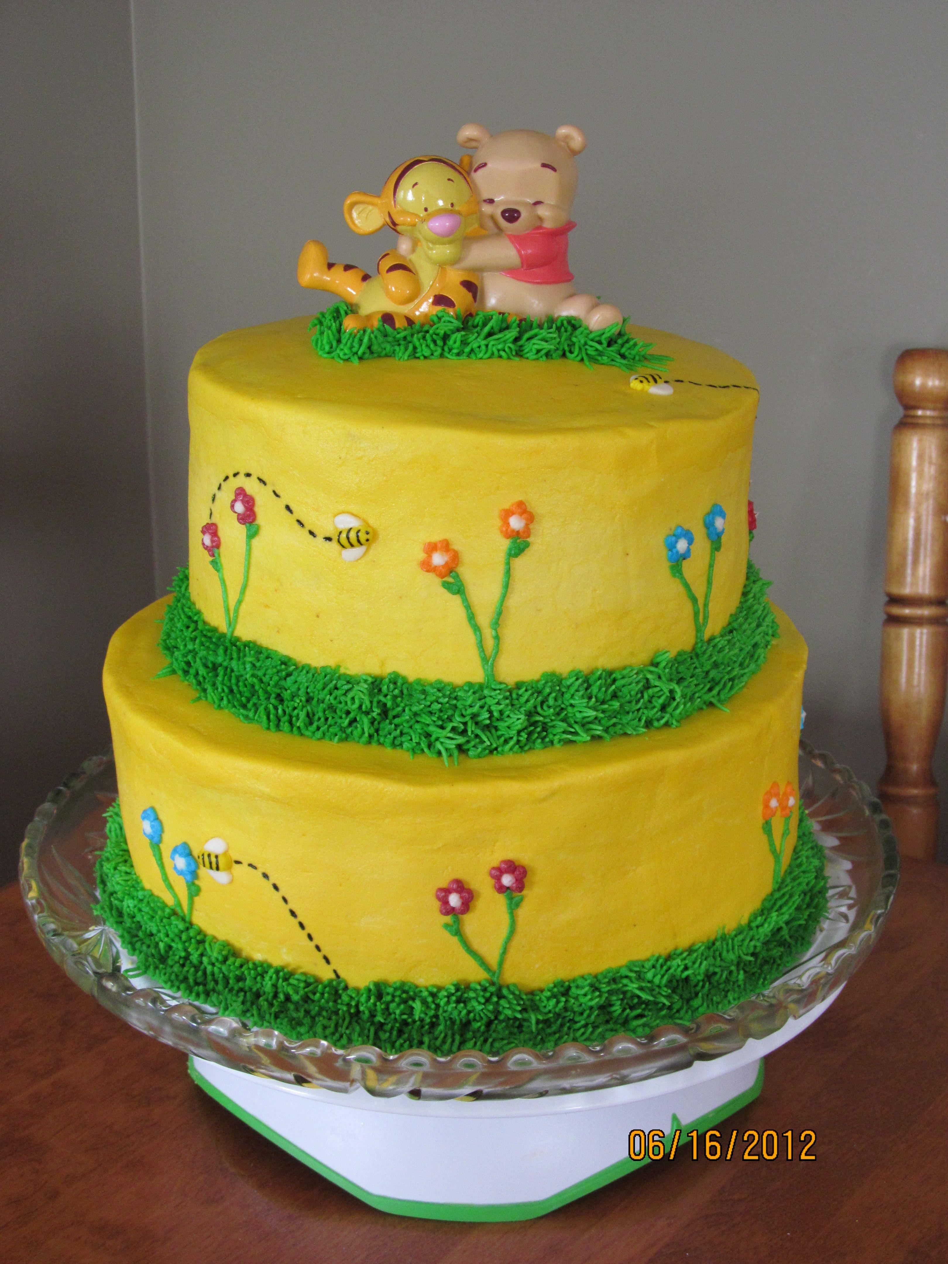 winnie the pooh baby shower cake baby shower pinterest