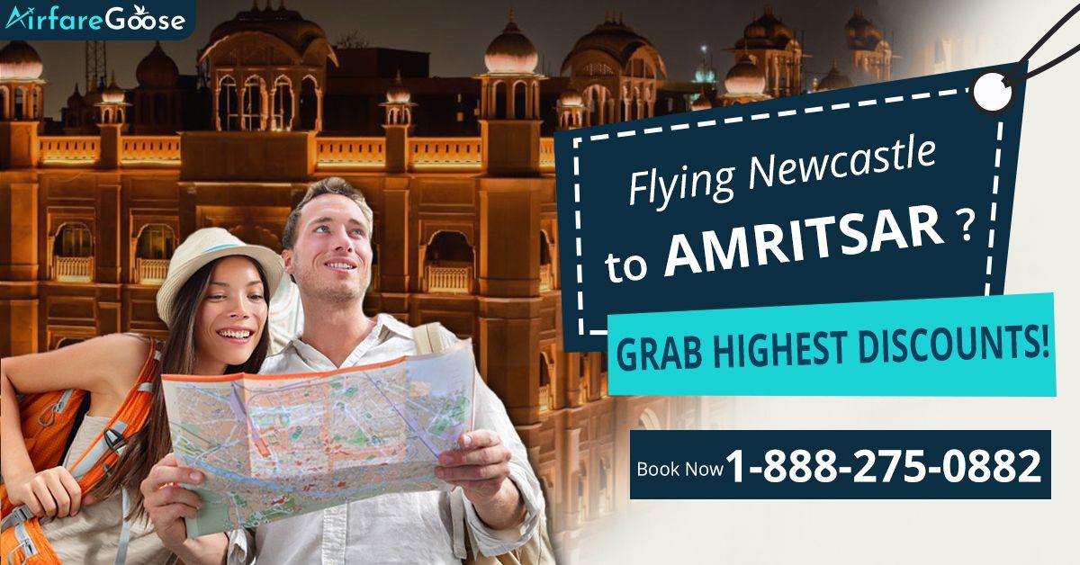 #Newcastle to #Amritsar Flights Deals !! Grab Highest Discounts on flights to Amritsar with #Airfaregoose. Hurry! Book your flight now!   For more information, call us at -1-888-275-0882 (Toll-Free).  #TraveltoAmritsar #Amritsar #Punjab #Bestplacetovisit #VisitIndia #flightdeals #cheapflights #BookFlightsOnline