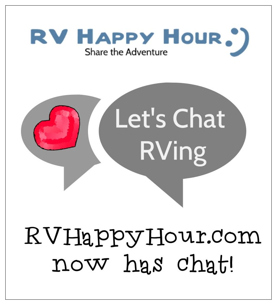 Like to talk rving rvhappyhour now has live chats built in