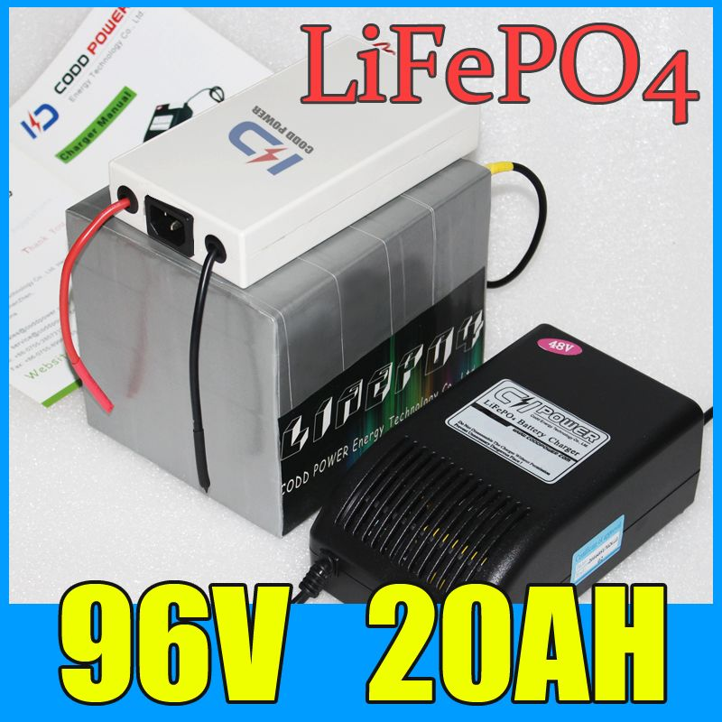 92v 20ah Lifepo4 Battery Pack 2000w Electric Bicycle Scooter Lithium Battery Bms Charger Free Shipping Electric Bicycle Lithium Battery Scooters For Sale