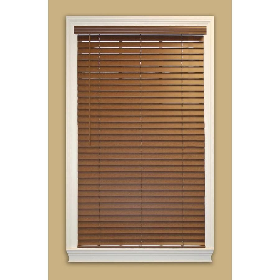 Allen Roth 2 In Cordless Bark Faux Wood Room Darkening Horizontal Blinds Common 33 5 In X 72 In Actual 33 In X 72 In With Images Horizontal Blinds Blinds Wood Room