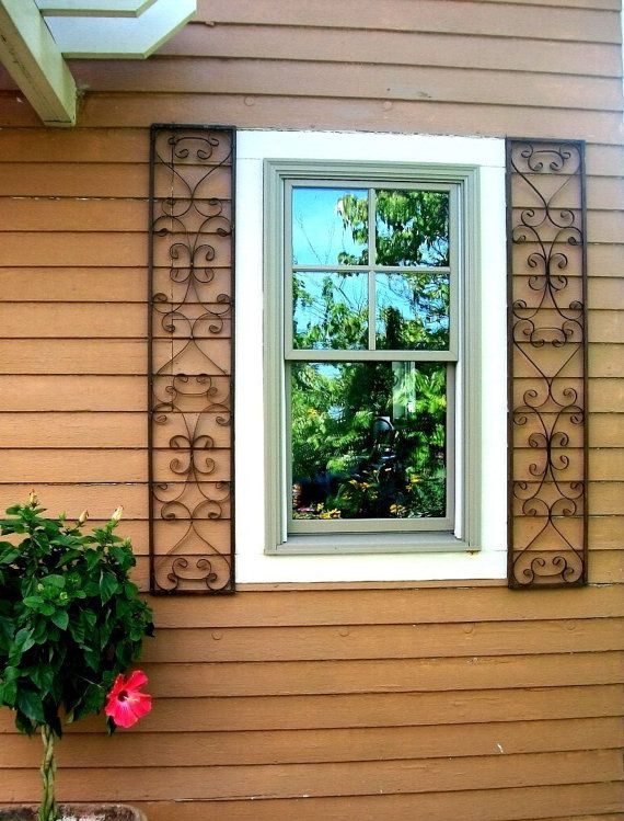 New Orleans Exterior Wrought Iron Window Shutters Metal Wall Etsy Window Shutters Exterior Shutters Exterior Window Trim Exterior