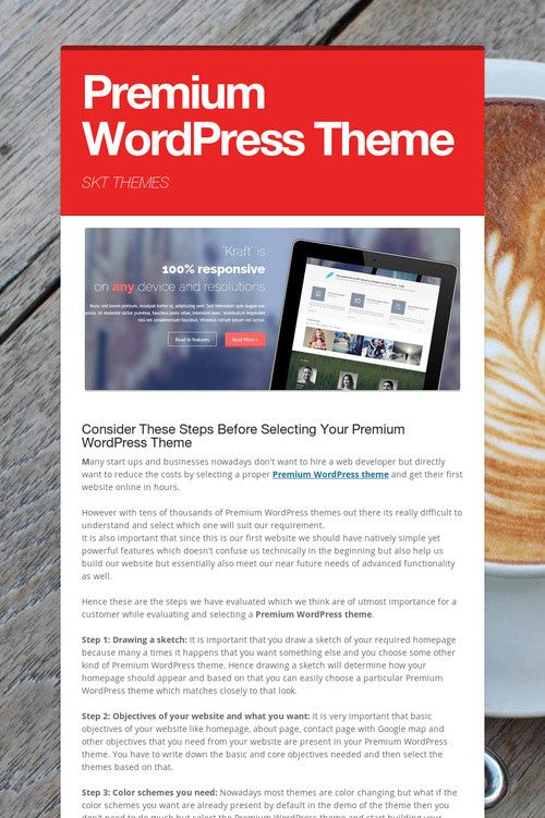 Help spread the word about Premium WordPress Theme. Please share ...
