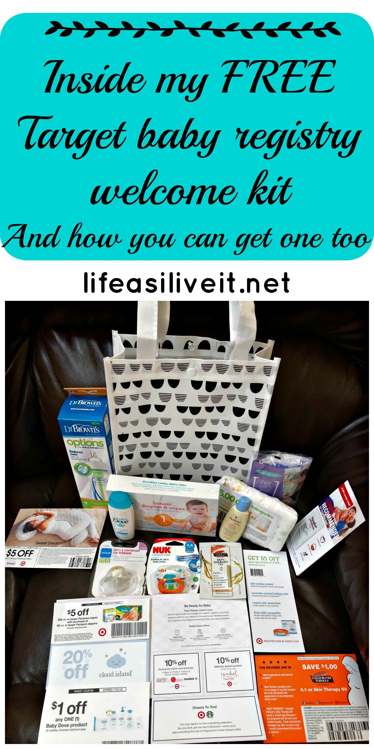 What I got in my Target Baby Registry Welcome Kit | Target ...