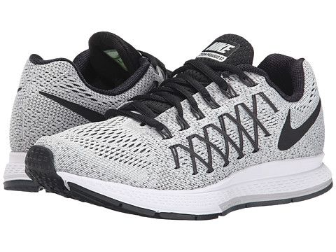 9.5 Nike Air Zoom Pegasus 32 Pure Platinum/Dark Grey/Black - Zappos.