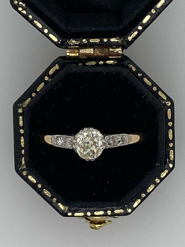 18ct platinum antique diamond engagement ring in 2020