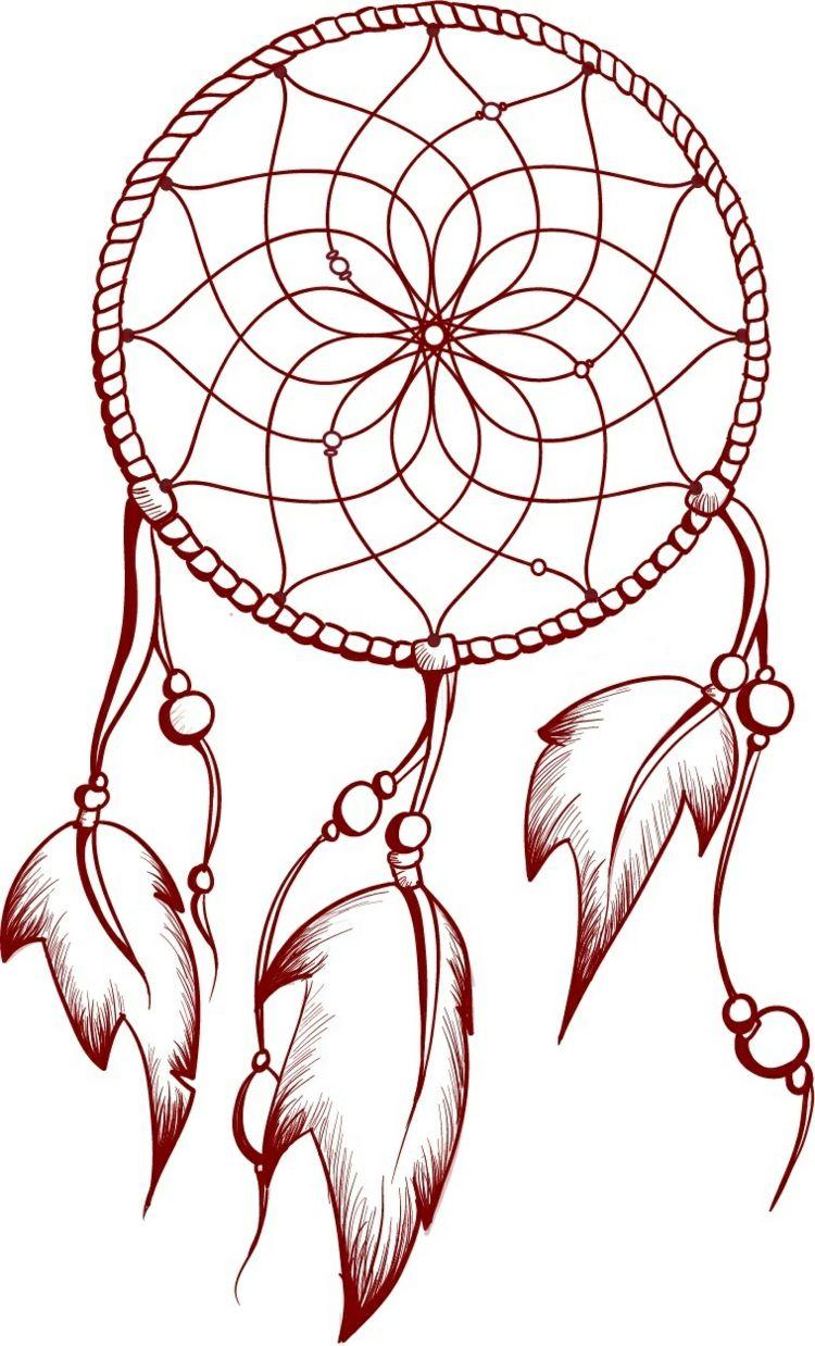 Fingerabdruck Baum Vorlage Traumfanger Farbig Federn Netz Traumfanger Tattoo Design Traumfanger Tattoos Traumfanger Zeichnung
