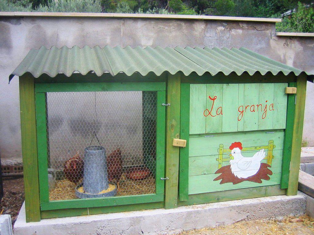 Un gallinero para el jard n alguien da m s casas y exteriores pinterest gallinas - Casas para gallinas ...