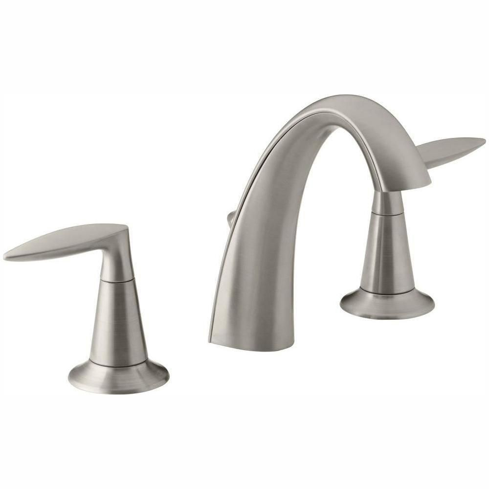 Kohler Alteo 8 In Widespread 2 Handle Water Saving Bathroom Faucet In Vibrant Brushed Nickel K 45102 4 Bn Sink Faucets Bathroom Sink Faucets Bathroom Faucets