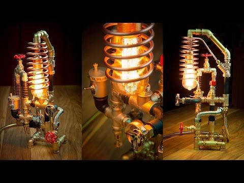 DIY Pipe Lamp Switch made with water faucet handle