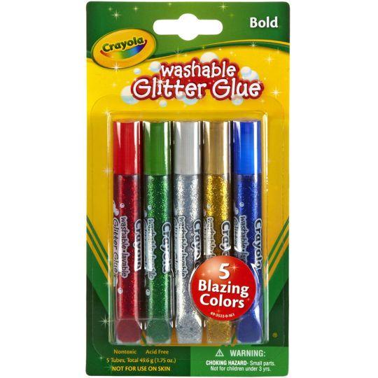 School Supplies Crayola Washable Glitter Glue Super Sparkle Pens