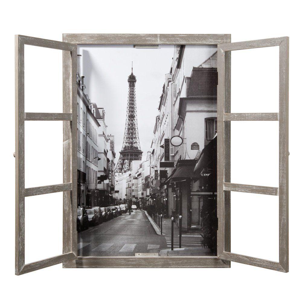 Cuadro ventana de madera 57 x 79 cm | París, Ventana y Cuadro