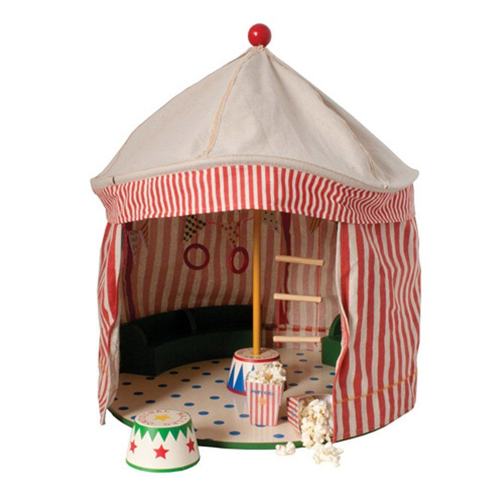 Amazon.com : Maileg Circus tent w. podium and cutting sheet : Childrens Play Tents : Sports & Outdoors
