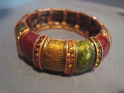 Joan Rivers Autumn Enamel And Crystal Stretch Bracelet