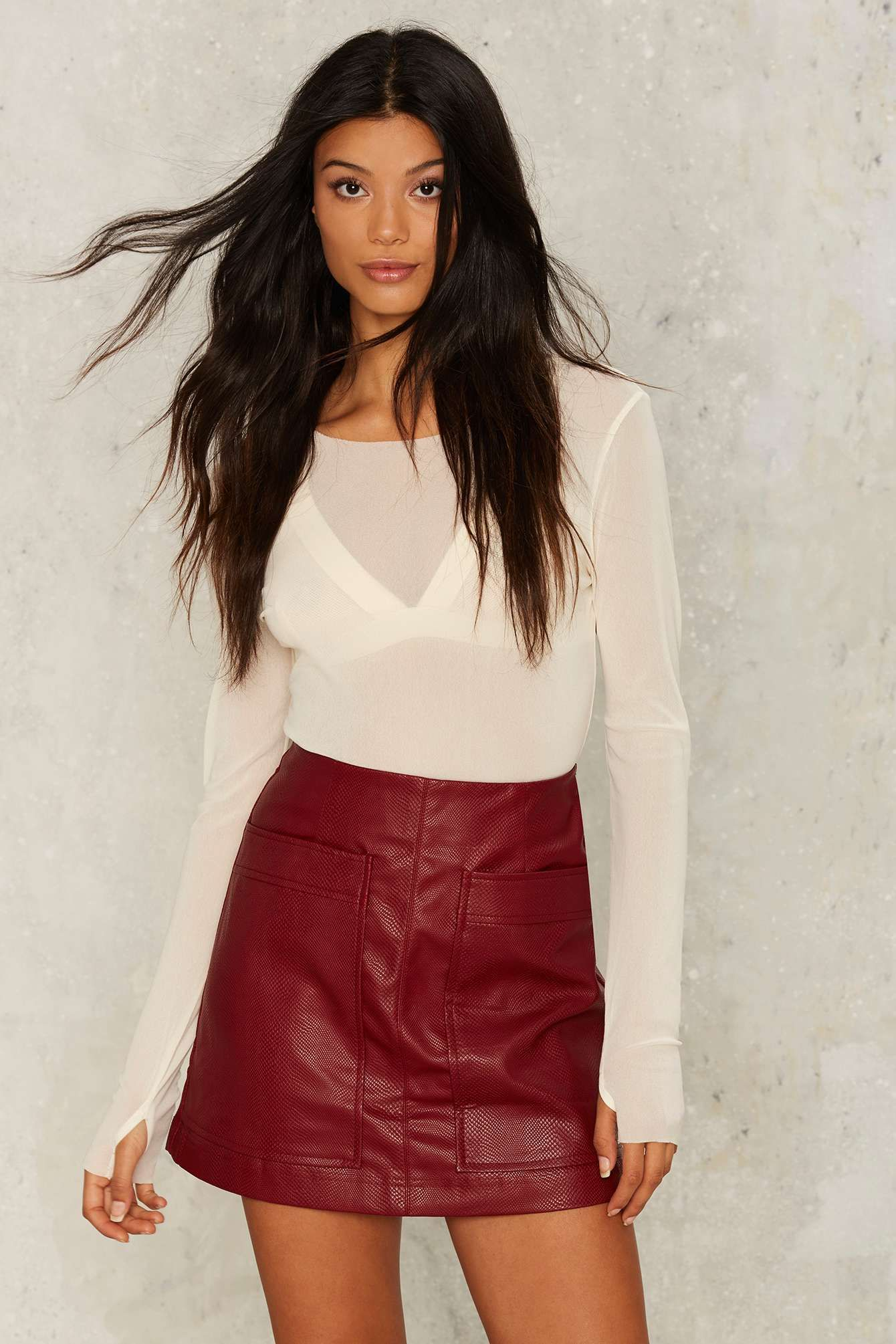 Wait a Mini Vegan Leather Skirt | Shop Clothes at Nasty Gal ...