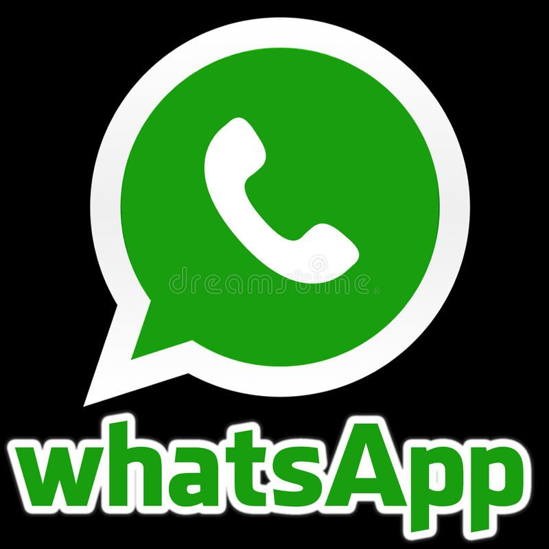 Whatsapp. Icon to use wherever you like with black