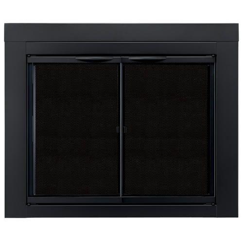 Astor Medium Cabinet Style Fireplace Door at Menards®: Pleasant Hearth Astor Medium Cabinet-Style Fireplace Door