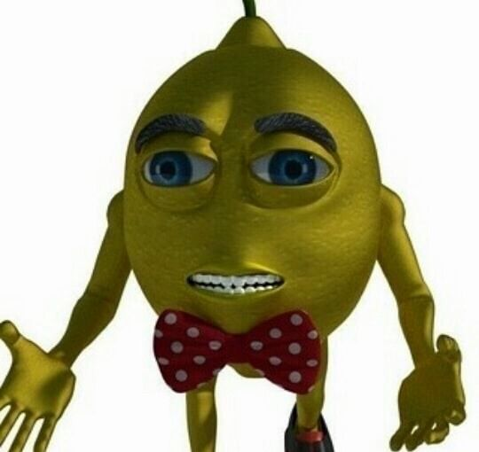 Lemon Bow Tie Aesthetic Meme