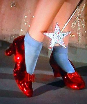 Image result for dorothy red high heels