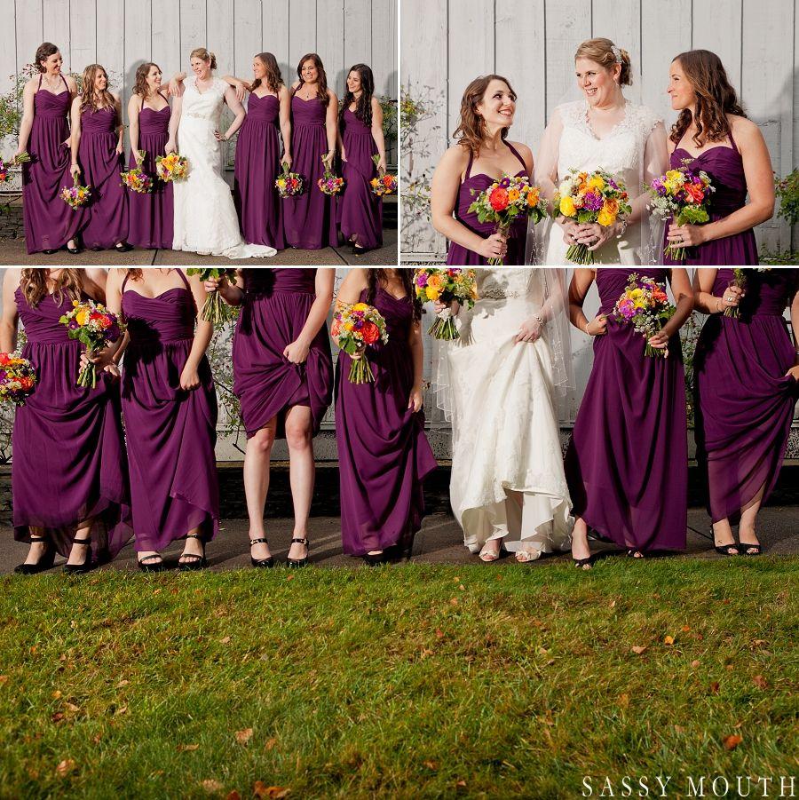 Purple Bridesmaid Dress Rustic Chic Fall Wedding - The ...