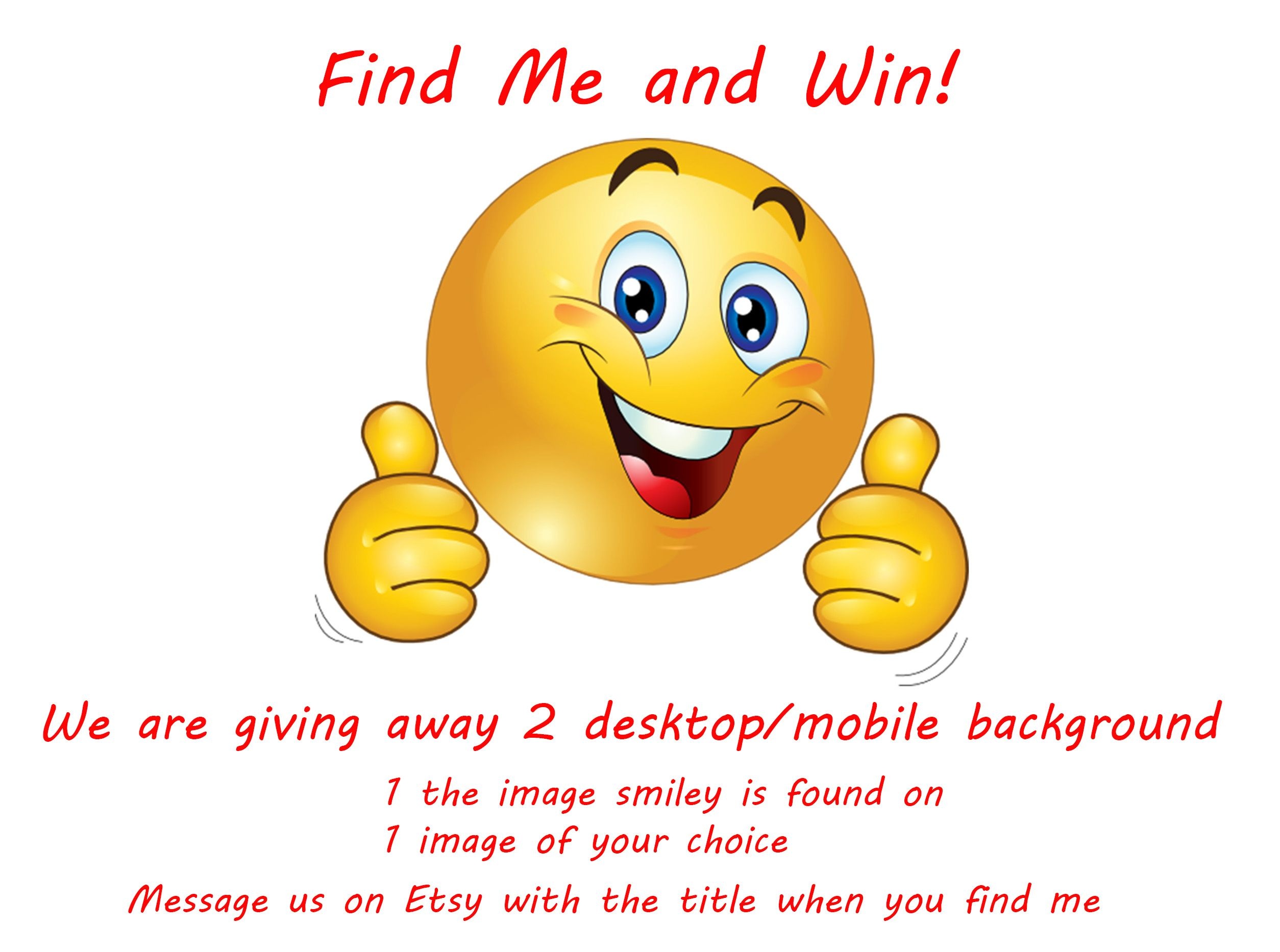 Monday Scavenger Hunt! Find Smiley and win 2 Free downloadable ...
