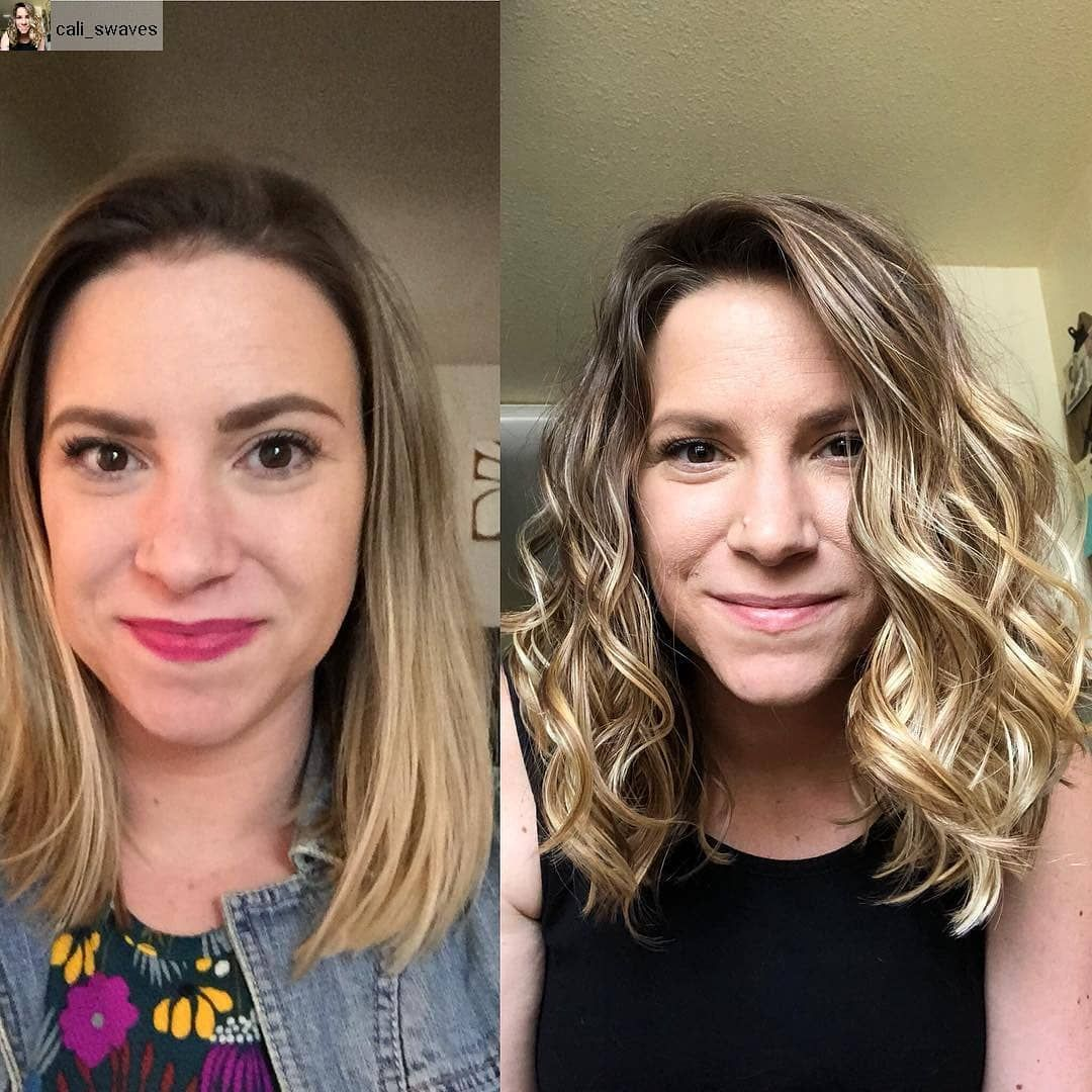 Love This Beautiful 2a Waves Repost From Cali Swaves With Regram App Transformationtuesday I Thought Curly Girl Method Straight Hairstyles Silicones